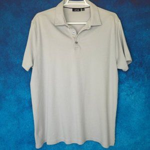 Apt 9 Men's Grey Gray Polo Golf Shirt Size Large